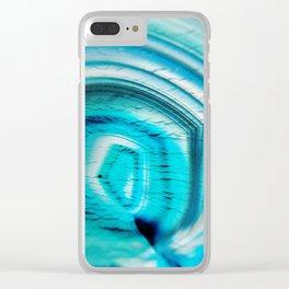 Aqua Agate Clear iPhone Case