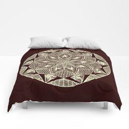 Maroon Mandala Comforters