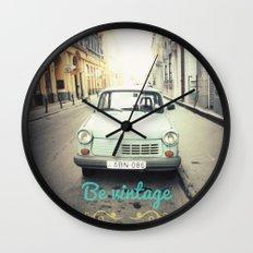 Be Vintage! Wall Clock
