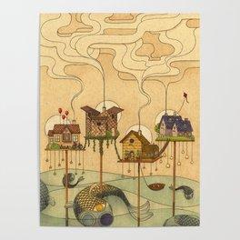 Sea Houses Poster