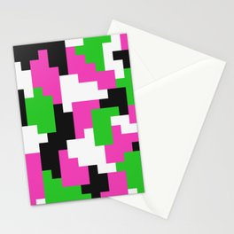 Girl Boss neon color blocks Stationery Cards