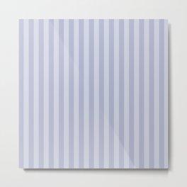 Gray blue simple stripes . Metal Print