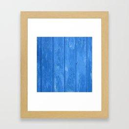 blue wood Framed Art Print