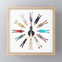 Heroes Circle Group Framed Mini Art Print