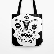 stencil face TEE invert Tote Bag