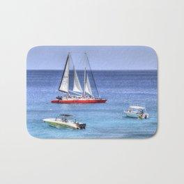 Barbados Blue Sea Catamaran Bath Mat