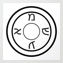 Shield of Our Ancestors Amulet Art Print