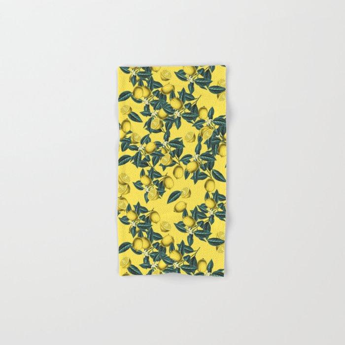 Lemon and Leaf Pattern III Hand & Bath Towel