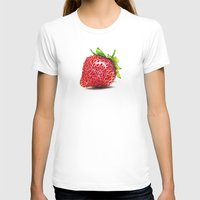 strawberry T-shirts featuring Strawberry by CipiArt