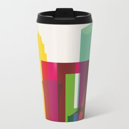 Shapes of Mexico City accurate to scale Metal Travel Mug