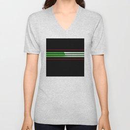 Tean Colors 5....green , red Unisex V-Neck