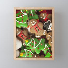Christmas Cookies Framed Mini Art Print