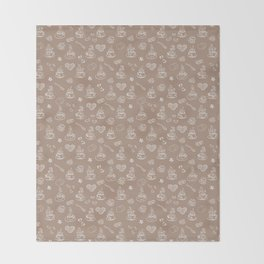 Tea time warm taupe Throw Blanket