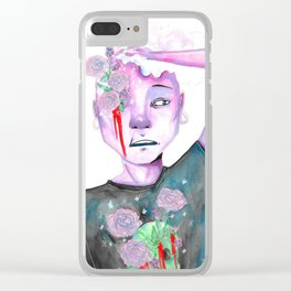 pink zombie lars Clear iPhone Case
