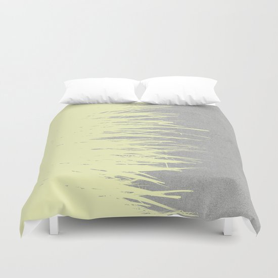 Concrete Fringe Yellow Duvet Cover