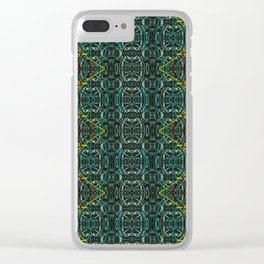 Abstract diamonds Clear iPhone Case