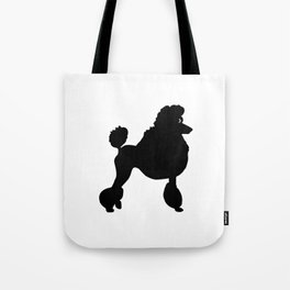 Poodle Dog Breed black Silhouette Tote Bag