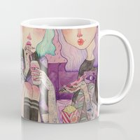 loll3 Mugs featuring Pizza Party by lOll3