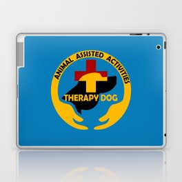 Animal Assisted Activities  - THERAPY DOG logo Laptop & iPad Skin