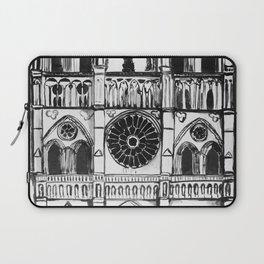 Notre Dame de Paris, cathedral, illustration Laptop Sleeve