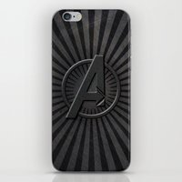 avenger iPhone & iPod Skins featuring The Avenger by amesro