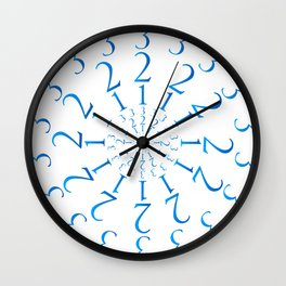 123 Mandala Wall Clock