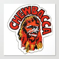 chewbacca Canvas Prints featuring Chewbacca by Popp Art