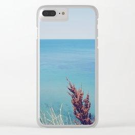 Marine blue Clear iPhone Case