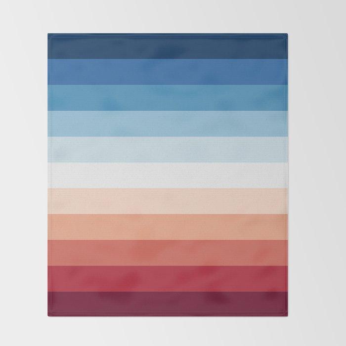 Flag Gradient Throw Blanket