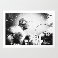 man hunt Art Print
