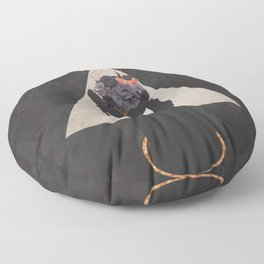 The Holy Llama Floral Geometric Floor Pillow