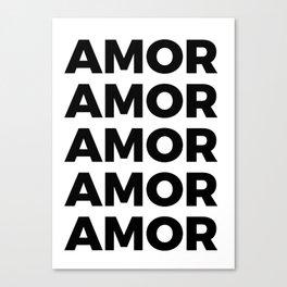 Amor Amor Canvas Print