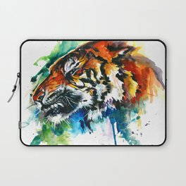 Orange Mad Tiger Watercolor Laptop Sleeve