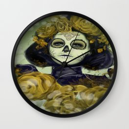 Day of the Dead Halloween Wall Clock