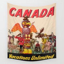 Vintage poster - Canada Wall Tapestry