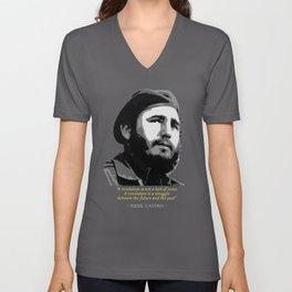 Fidel Castro Quote Unisex V-Neck