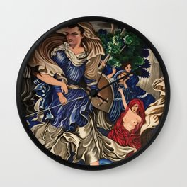 Blue Fairy, Sam Fan Art Wall Clock