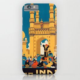 Vintage poster - India iPhone Case
