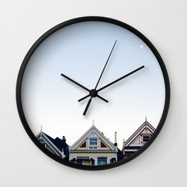 Moonlit Painted Ladies Wall Clock