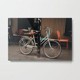 Lonely Cycle Metal Print