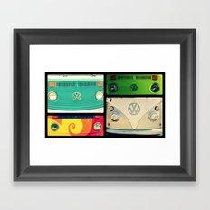 VW Collage Framed Art Print