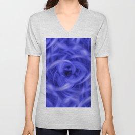 Background Flames Blue Unisex V-Neck