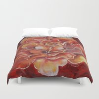 agnes Duvet Covers featuring Agnes Red Rose by notredame777