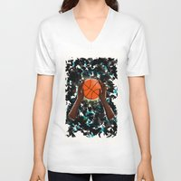 basketball V-neck T-shirts featuring  BasketBall  by Marven RELOADED