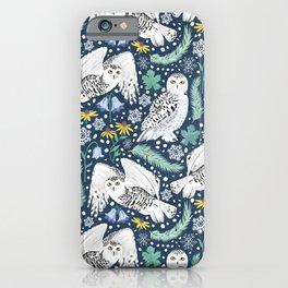 Snowy Owls on a Snowy Eve iPhone Case