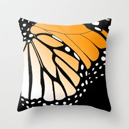Butterfly Wing - Monarch Throw Pillow