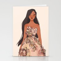 pocahontas Stationery Cards featuring Pocahontas by punziella