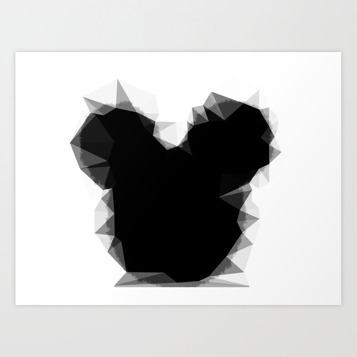 Abstract Mickey Art Print