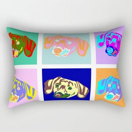 Dachshund Pop Art Rectangular Pillow