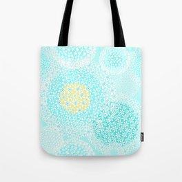 Winter sun, floral snowfall Tote Bag